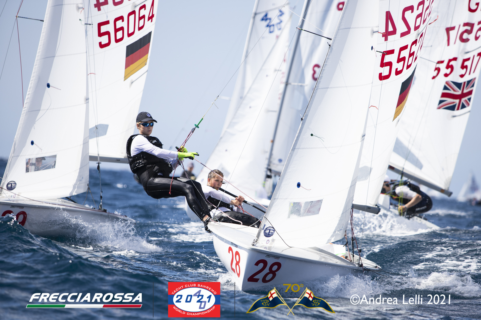 Great wind allowed the racing to start at the 2021 420 Worlds in Sanremo