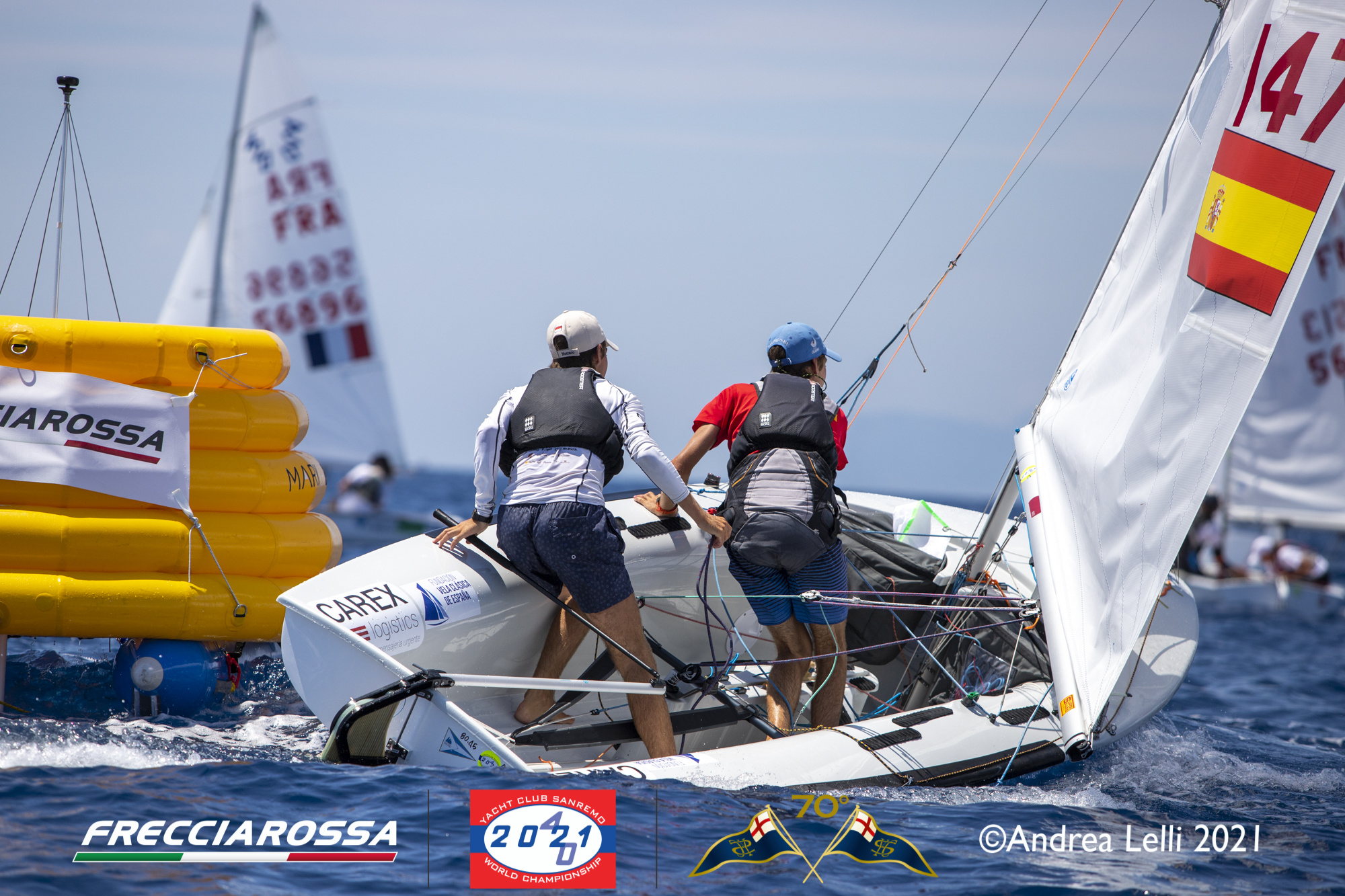 Only 1 race sailed today in light wind conditions at the 2021 420 Worlds
